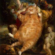 Chat intrus dans le Bacchus de Rubens